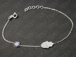 925-Sterling-Silver-Gold-Rose-Hamsa-Hand-Fatima-Evil-Eye-Mati-Nazar-CZ-Bracelet