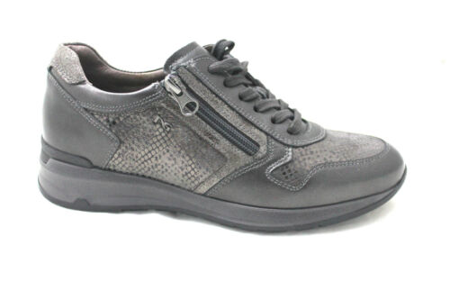 Estraibile Donna All 719223 Giardini Sneakers Plantare Antracite Nero Cerniera RwvnUY