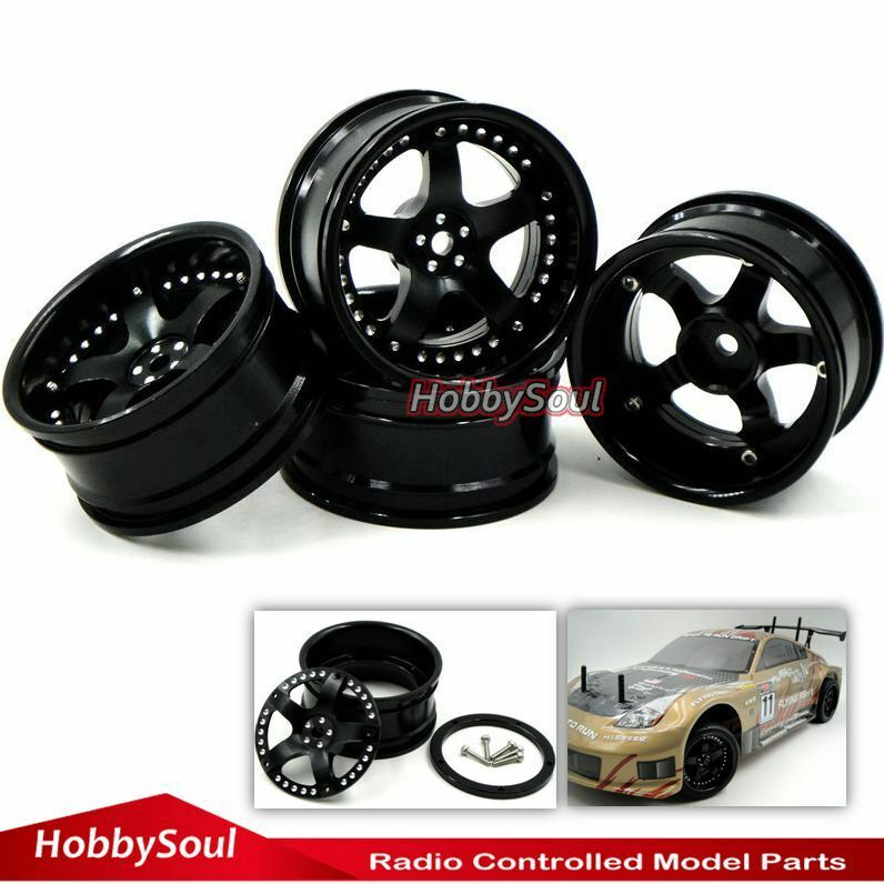 4pcs New RC 1 10  Super Alloy Rims Wheels For Drift On-road touring upgrade Part