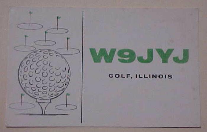 US GOLF RADIO CARD ILLINOIS 1963