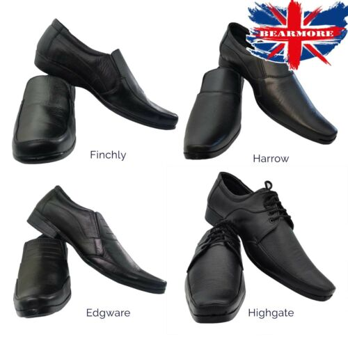 Mens Shoes NEW Black Smart Suit Leather All Size Formal Dress Office Work