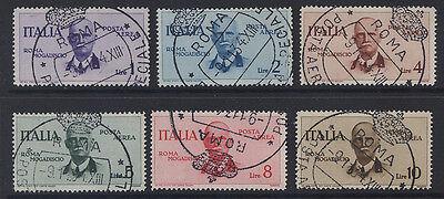 ITALY - 1934 ROME-MOGADISCIO FLIGHT SET FINE USED  SG.444-449  (REF.B4)