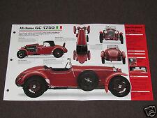 1929-1933 ALFA ROMEO 6C 1750 (1932) Car SPEC SHEET BROCHURE PHOTO BOOKLET