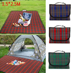 Extra Large Waterproof Picnic Blanket Mat Fleece Camping Beach Park Rug Outdoor