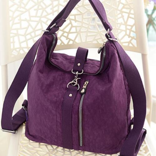 Women Multi-function Nylon Handbag Crossbody Messenger Shoulder Bag Backpack