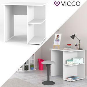 VICCO-Schreibtisch-Weiss-PC-Tisch-Arbeitstisch-Computer-Kinderschreibtisch-Buero