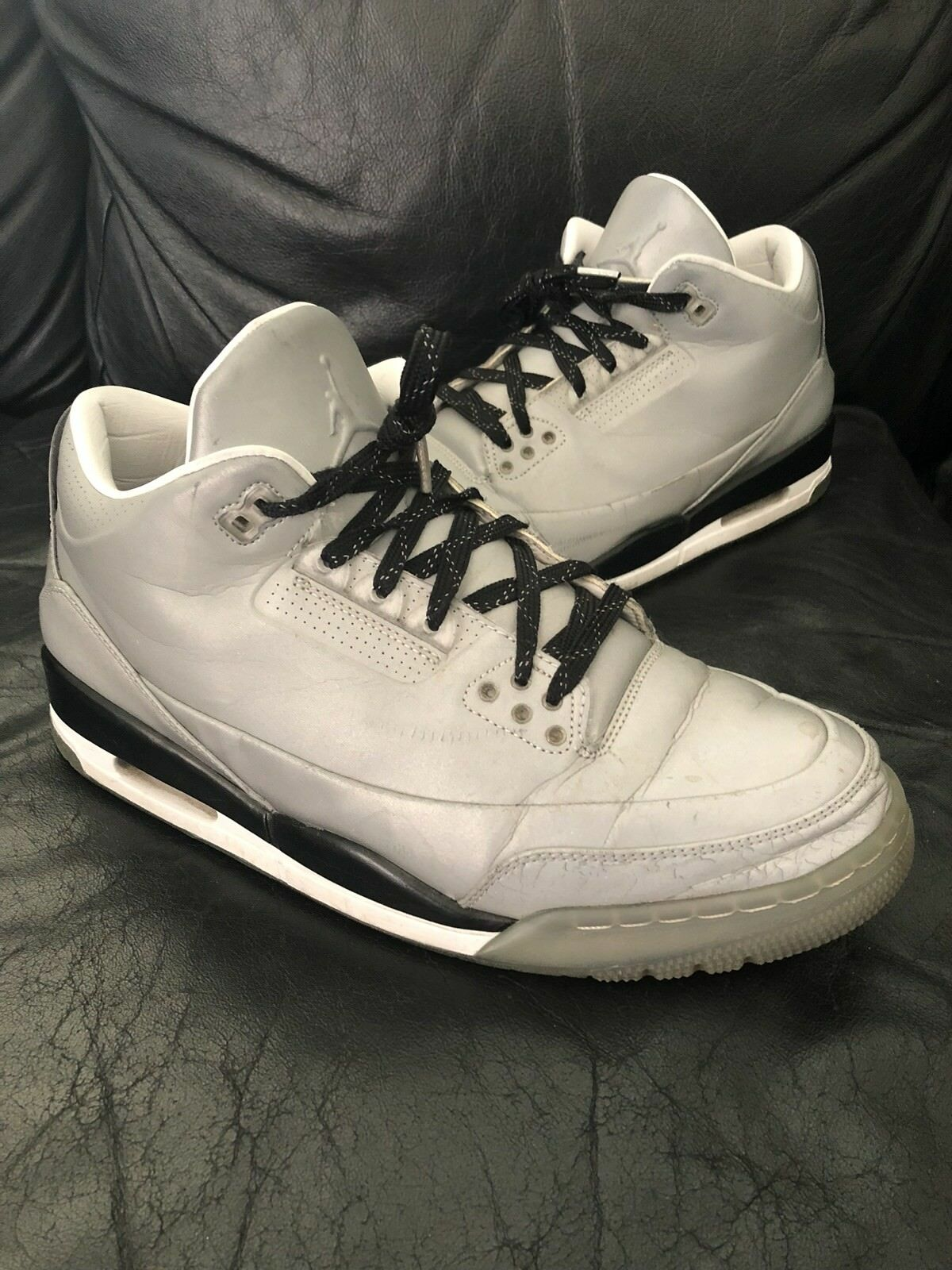 Great discount Nike Air Jordan 3 5LAB3 REFLECTIVE SILVER Sz 11.5 3M bred cement NRG off white