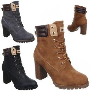 NEU-LUXUS-Damen-STIEFELETTEN-STIEFEL-Schuhe-Boots-HIGHHEELS-Schwarz-NEU-GA676-25