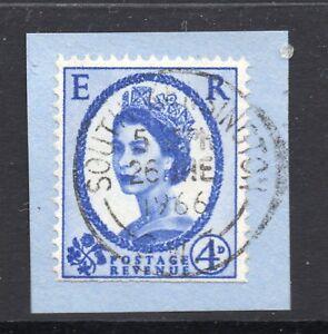 GB  QE2 Postmark  SOUTH KENSINGTON 1966 Thin Arcs cancel - WIGAN, Greater Manchester, United Kingdom - GB  QE2 Postmark  SOUTH KENSINGTON 1966 Thin Arcs cancel - WIGAN, Greater Manchester, United Kingdom