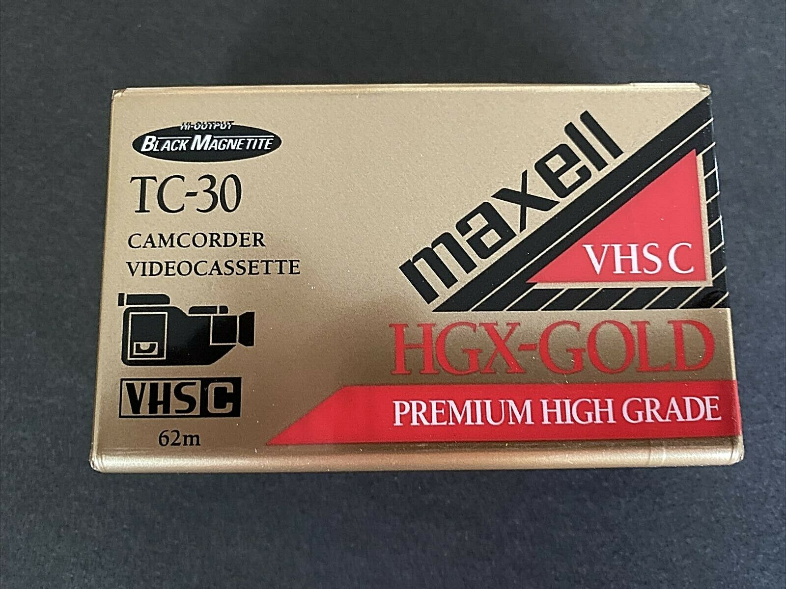 New MAXELL VHS-C Tape TC-30 HGX-Gold Camcorder Video Camera Cassette FREE SHIP