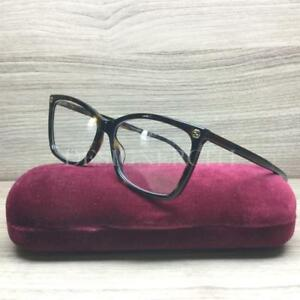 Image is loading Gucci-GG0025O-0025O-Eyeglasses-Dark-Havana-002-Authentic- bcaecb1cc0c