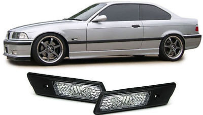 CLEAR LED SIDE REPEATERS INDICATORS 4 E46 3 SERIES 316 318 320 325 328 330