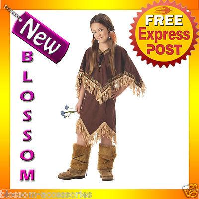CK95 Princess Wildflower Native Indian Girls Child Halloween Book Week Costume