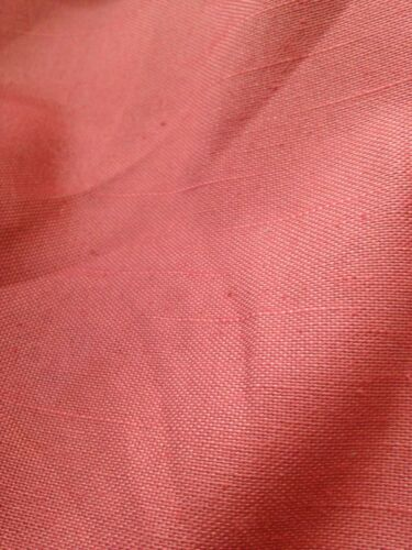 """2 mts double largeur TOILE TISSAGE rideau tissu en rose sombre 112/"""" W"""