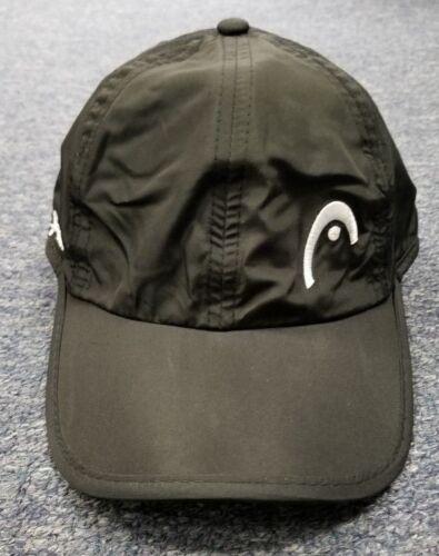 Head Penn Logo Tennis Pro Player Hat Cap Black 100/% Polyester UV protection