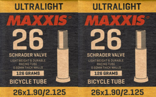 2x Maxxis Ultra Light Schlauch 26 x 1.90 2.125 AV Autoventil 36 mm