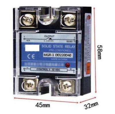DD220D40 SSR 40A 3-32VDC Input to 5-220VDC Output Solid State Relay DC to DC M