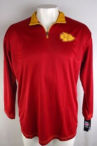 Kansas-City-Chiefs-NFL-Men-039-s-Therma-Base-1-4-Zip-Contrast-Jacket-Red