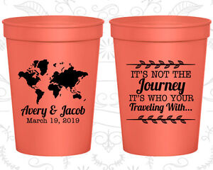 Personalized Wedding Favor Cups Custom Cup Gifts (374) Destination Favors