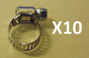 Ideal-Micro-Hose-Clamp-1-8-5-16-034-6-16mm-x10-BULK-Pack-suit-Nissan-Toyota-VW-Ford