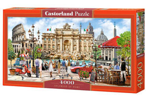 "Brand New Castorland Puzzle 4000 SPLENDOR OF ROME 54"" x 27"" C-400270"