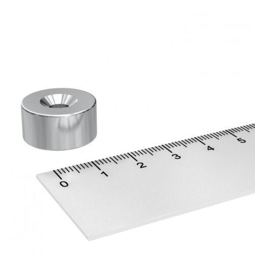 5 STÜCK 20x10 mm NEODYM SCHEIBEN MAGNET MIT 5.5mm BOHRUNG UND SENKUNG WERKSTATT