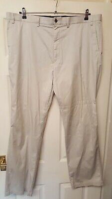 "Men""s M & S Blue Harbour Light Stone Luxury Trousers Size 42w 33l Brand New Men's Clothing Diversified Latest Designs"