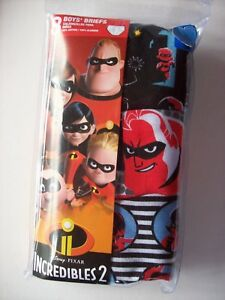 44aa0a22b9f Image is loading Incredibles-2-Underwear-Underpants-Briefs-Boys-3pk-4-
