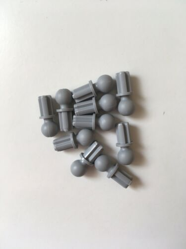 Part no LEGO 10x Technic Pin with Axle /& Towball in Grey 2736