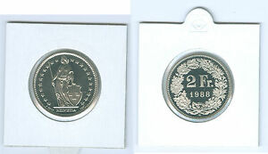 Vornehm Schweiz 2 Franken Stempelglanz Aus Kms (wählen Sie Unter: 1974 - 2019)