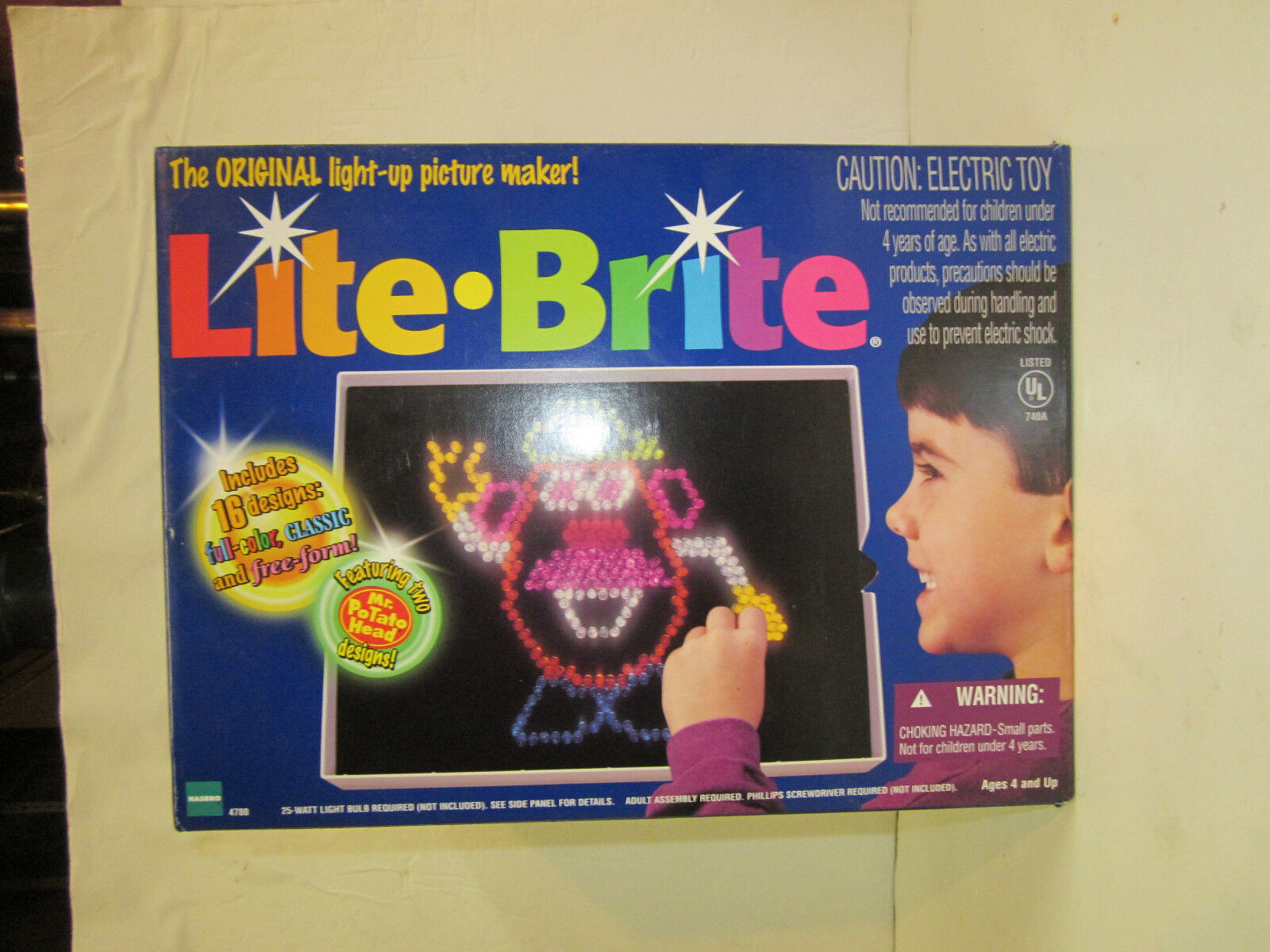 LITE BRITE light bright 1998 Vintage Vintage Vintage Mr Potato Head Toy unused sheets plus extra bf3da1