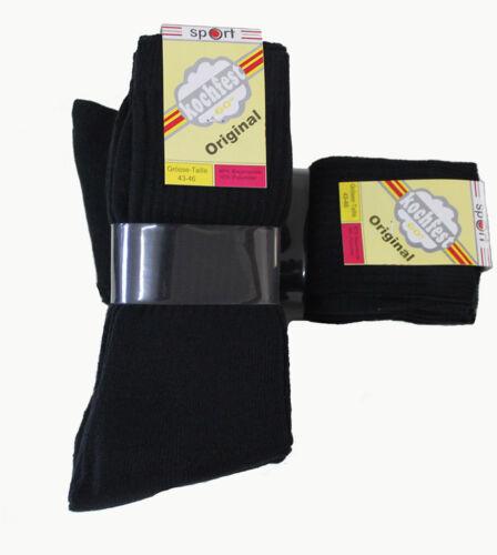 10 Paar Damen Sport Socken schwarz 90/% Baumwolle