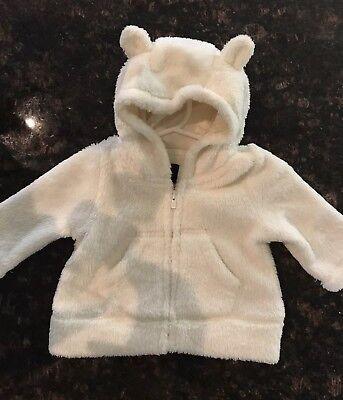Brown Bear Cardigan Hoodie Sweater w//Ears GAP Baby Boy Girl 6-12 Months Tan