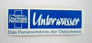Souvenir-Aufkleber Underwater Wildhaus Old Pcs Johann Gallen Switzerland 80er