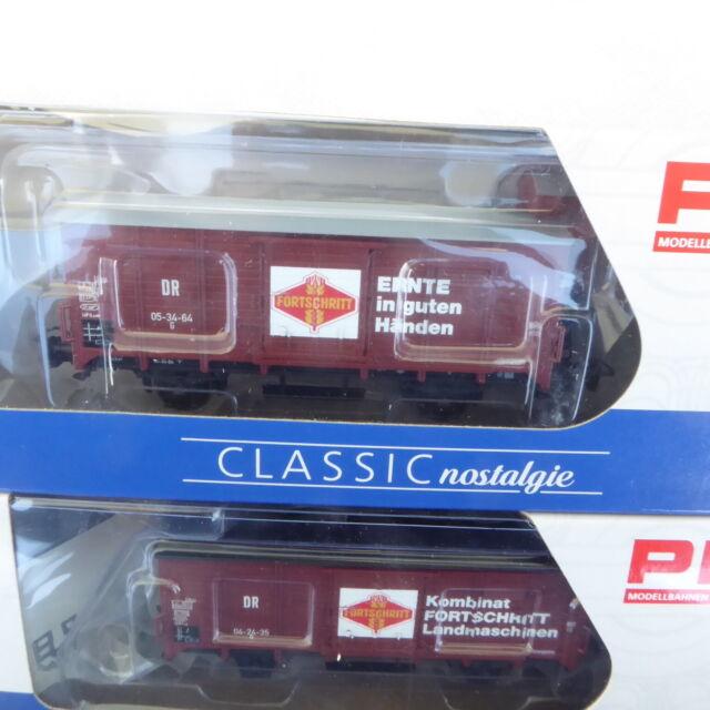 Piko 58366 H0 2er Set gedeckte Güterwagen G, DR Epoche 3 neuwertig in OVP SoSe