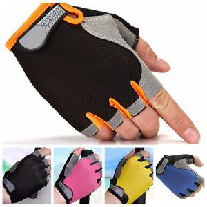 New Neoprene Weight Lifting Training Fingerless Glove Workout GYM Black Gloves
