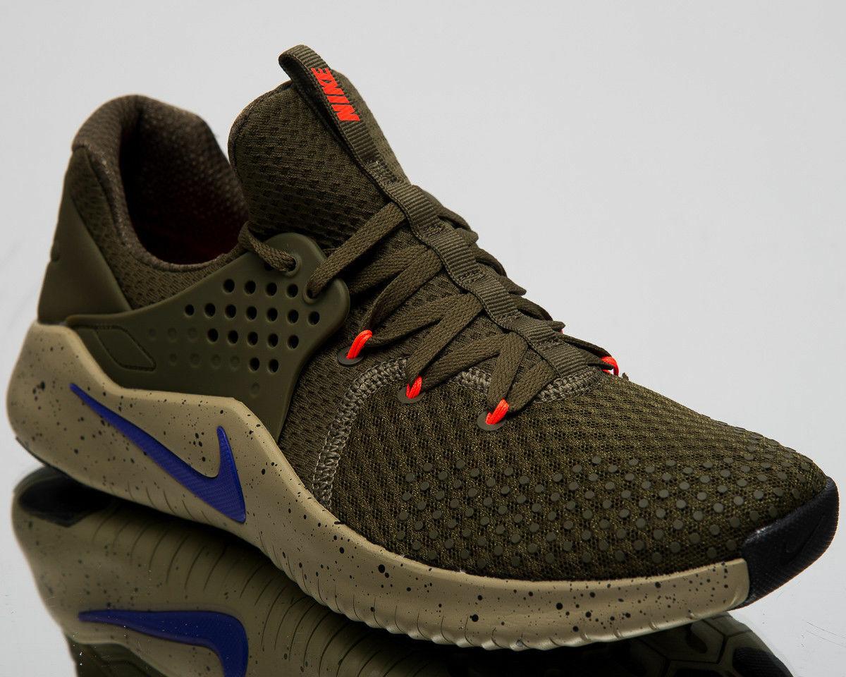Nike Free Tr V8 Oliva Lona Indigo entrenadores AH9395-342 UK 14 nos 15 EUR 49.5