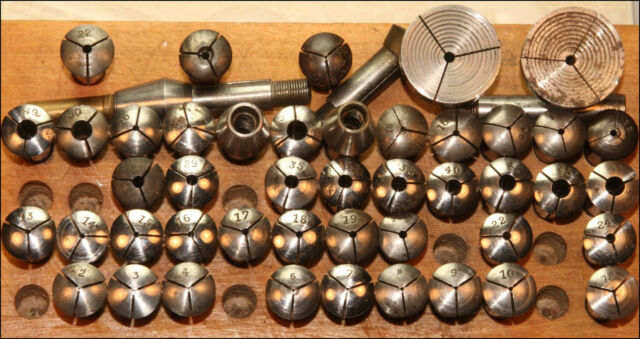 WOLF JAHN  WATCHMAKER LATHE COLLETS 8mm VARIOUS SIZES & PRICES WW STANDARD