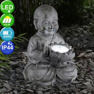 Détails sur Solaire LED Bouddha Feng-Shui Décoration de Jardin Extérieur  Asie Figure Balcon