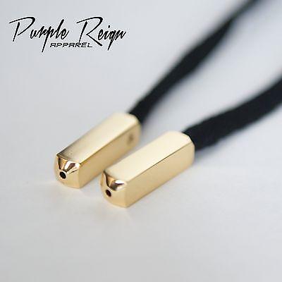 """supeme Yeezy PURPLE REIGN 1 Set /""""4 pcs/"""" Gold Aglets No-Cut Lacetips DIY"""