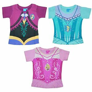 Image Is Loading Official Disney Princess Frozen Kids Girls T Shirt