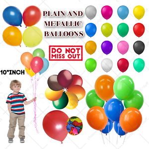 100 Large PLAIN BALOONS BALLONS helium BALLOONS Quality Party Birthday Weddings