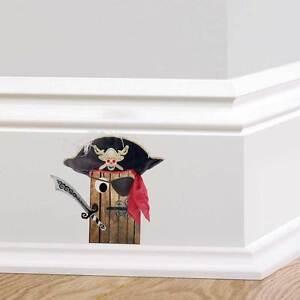 Image Is Loading Pirate Door Wall Sticker Skirting Board Boys Bedroom