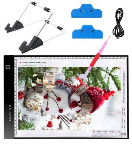 New SanerDirect Diamond Painting A4 LED Light Pad Tracing Light Box for Dra..