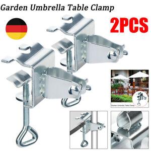 2x Sonnenschirmständer Sonnenschirmhalter für Balkongeländer oder Tisch Zubehör