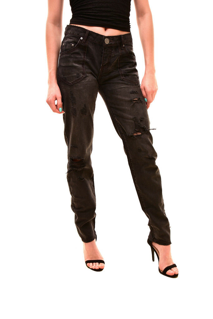 One Teaspoon Damen Fantastische Baggies Jeans Schwarz Van Größe 26  158 BCF84