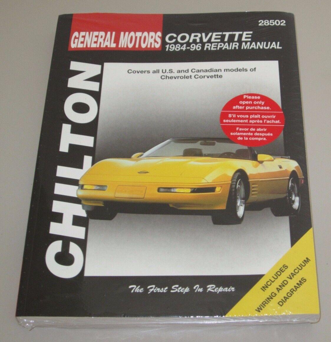 Reparaturanleitung Repair Manual Chevrolet Corvette C4 Baujahre 1984 on