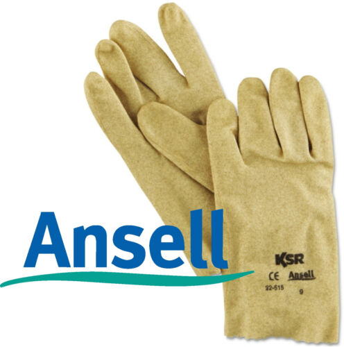ALL SIZES!! Ansell 22-515 KSR Vinyl Coated Knit Lined Gloves BY THE DOZEN NEW!