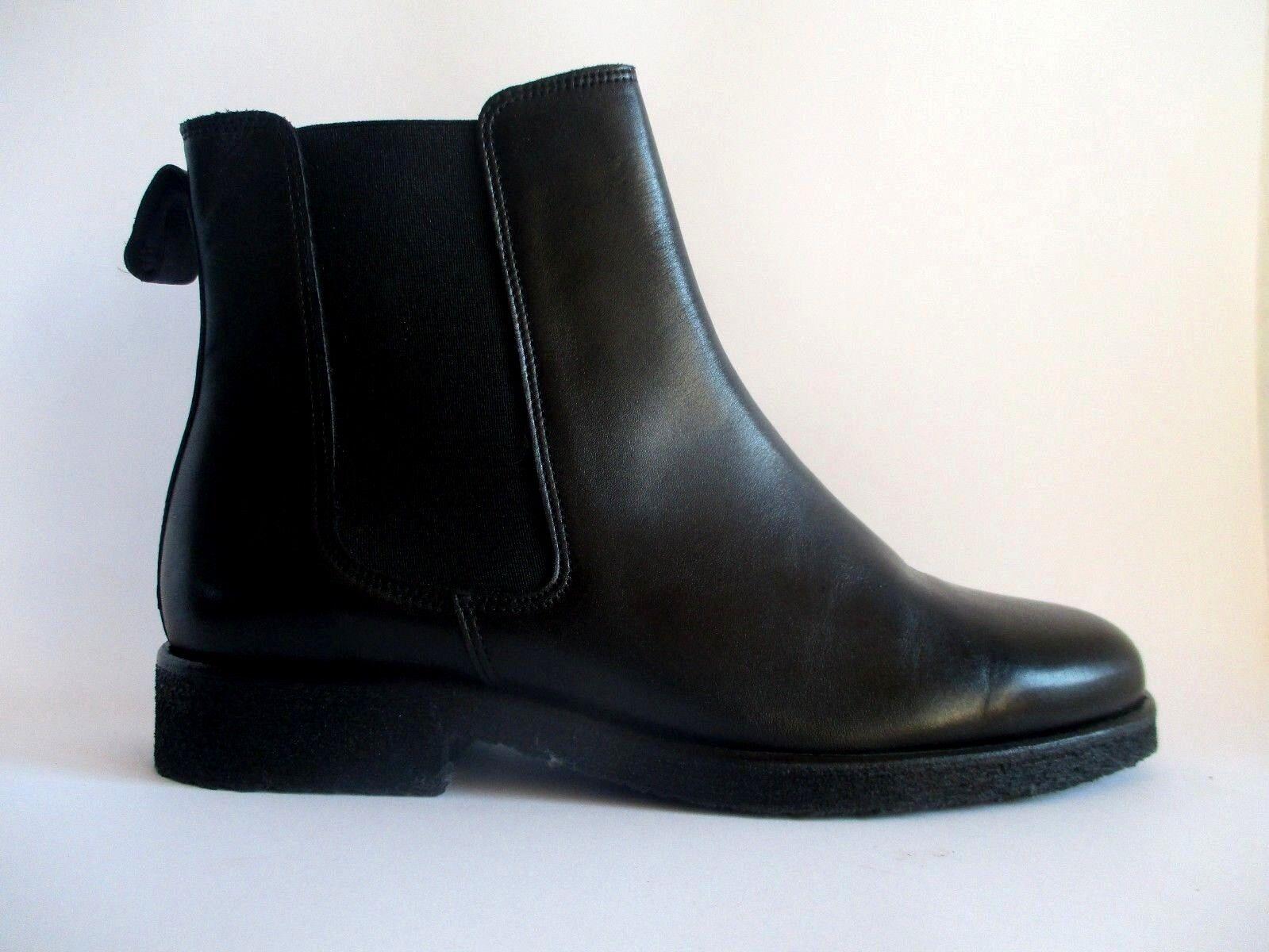 ZIGN Klassische Halbschuhe Ankle Chelsea Boot Leder Schwarz Gr.39  C4