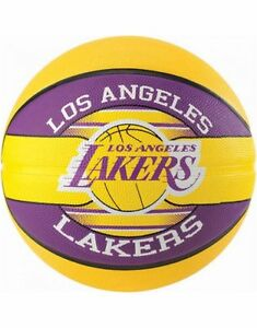 Spalding-NBA-Team-LA-Lakers-Durable-Rubber-Cover-Outdoor-amp-Kids-Basketball